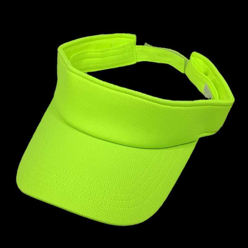 Lime Green Soft Mesh Athletic козырька шапки для мужчин Женщины Спорт ВС Visor Неон Оранжевый Белый Черный Синий Ярко-розовый