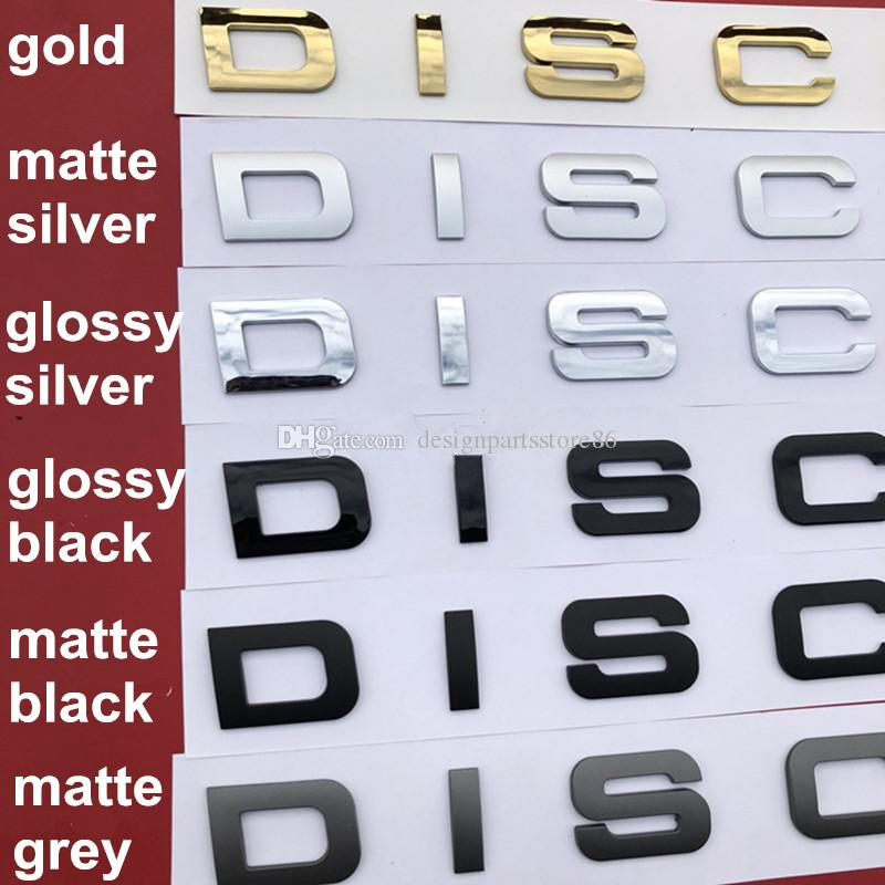 Decal Gloss Black Letters Emblem Badge for DISCOVERY 5 Sport SUV Car Styling Hood and Trunk Sticker Matte Grey glossy Silver
