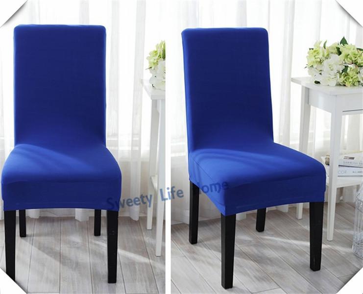 البساطة أسلوب دنة / ليكرا غطاء يغطي كرسي مكتب الرئاسة، كرسي دوار، الأزرق الملكي ستريك الطعام غطاء كرسي