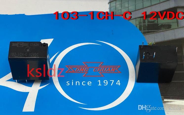 lot Livraison gratuite (5pieces / lot) 100% Original New SONG CHUAN 103-1CH-C-12VDC 103-1CH-C-20A 24VDC 5Pins DC12V DC24V relais automobile