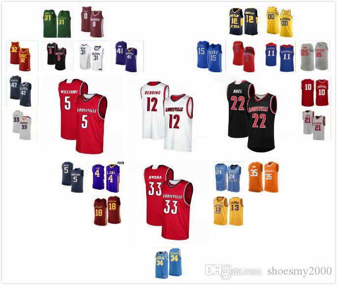 Custom Louisville Cardinal Aidan Igiehon Jersey 22 Quinn Slazinski 11 Malik Williams 5 Hogan Orbaugh 12 Jodan Nwora 33 S-3XL