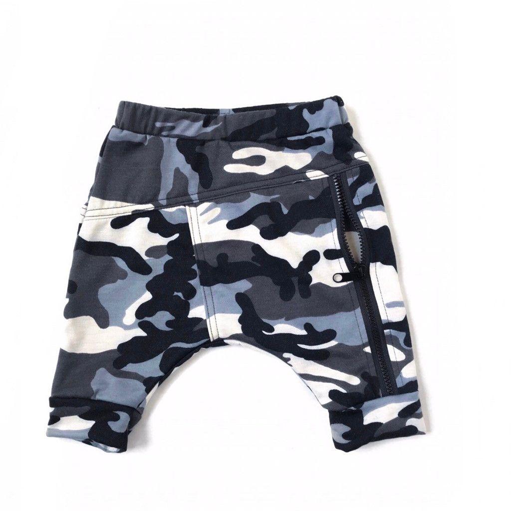 Sweatpants طفل رضيع كيد بوي الحريم السراويل البنطلون سستة عالية الخصر التمويه الملابس بنين بنطلون