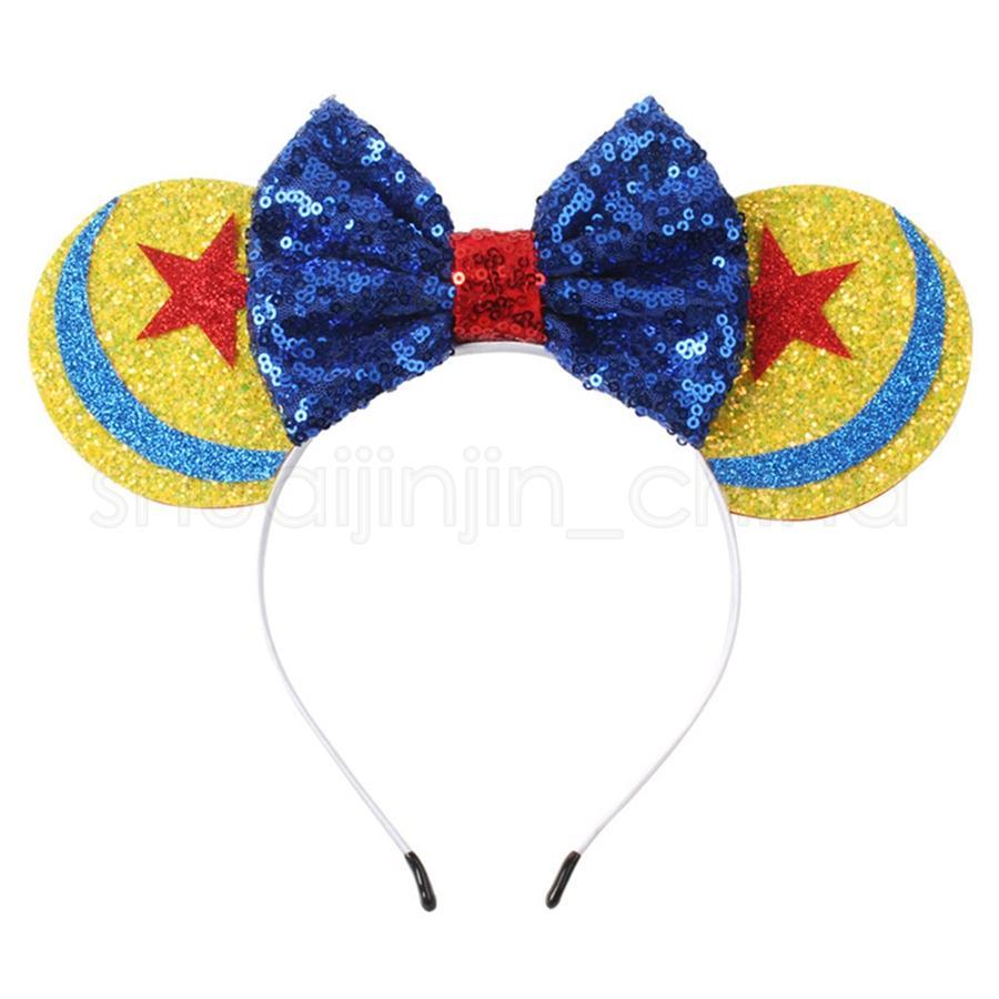 Regalos de banda para el cabello copo de impresión de la flor manera del niño del arco de la venda del arco Festival del aro del pelo del partido de cumpleaños TTA905