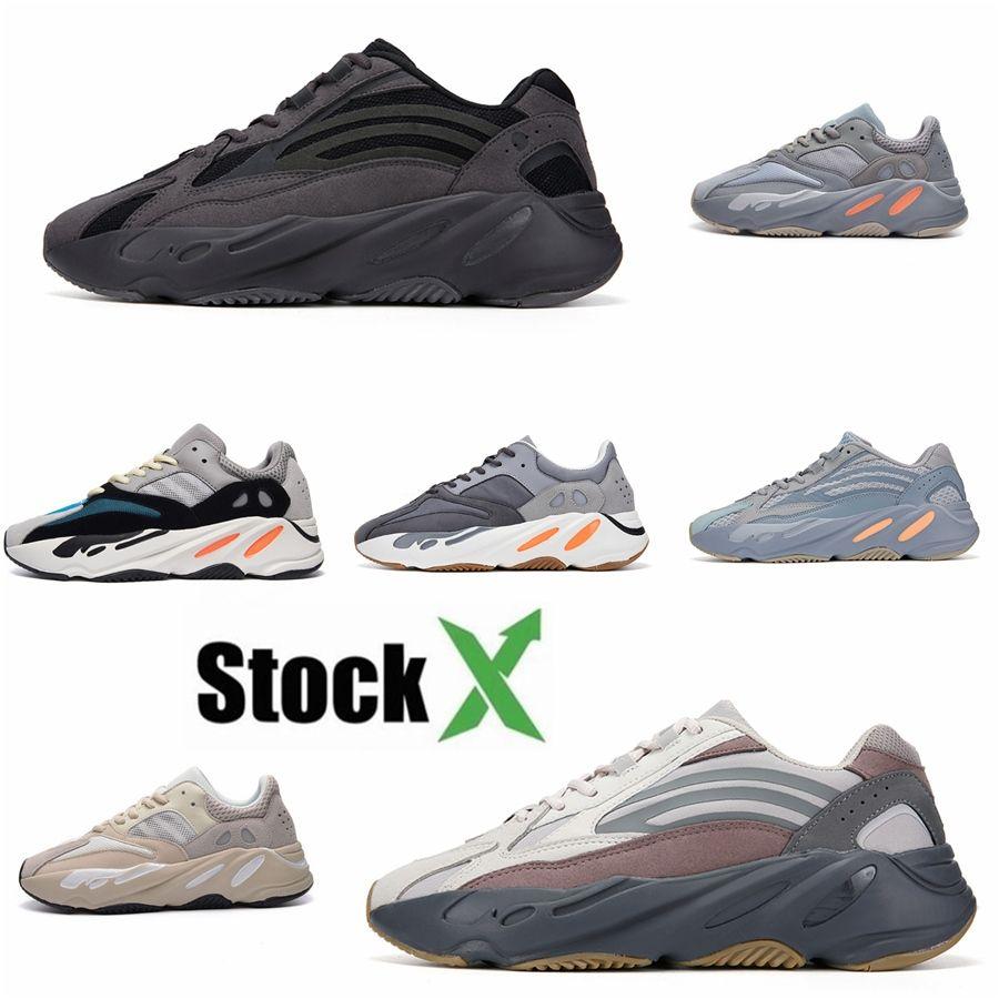 700 New Top Quality calçados casuais dos homens Mulheres Kanye West Chaussure Magnet Utility Preto Designers Zapatos Hombre Sneakers 36-46 C09 # DSK608