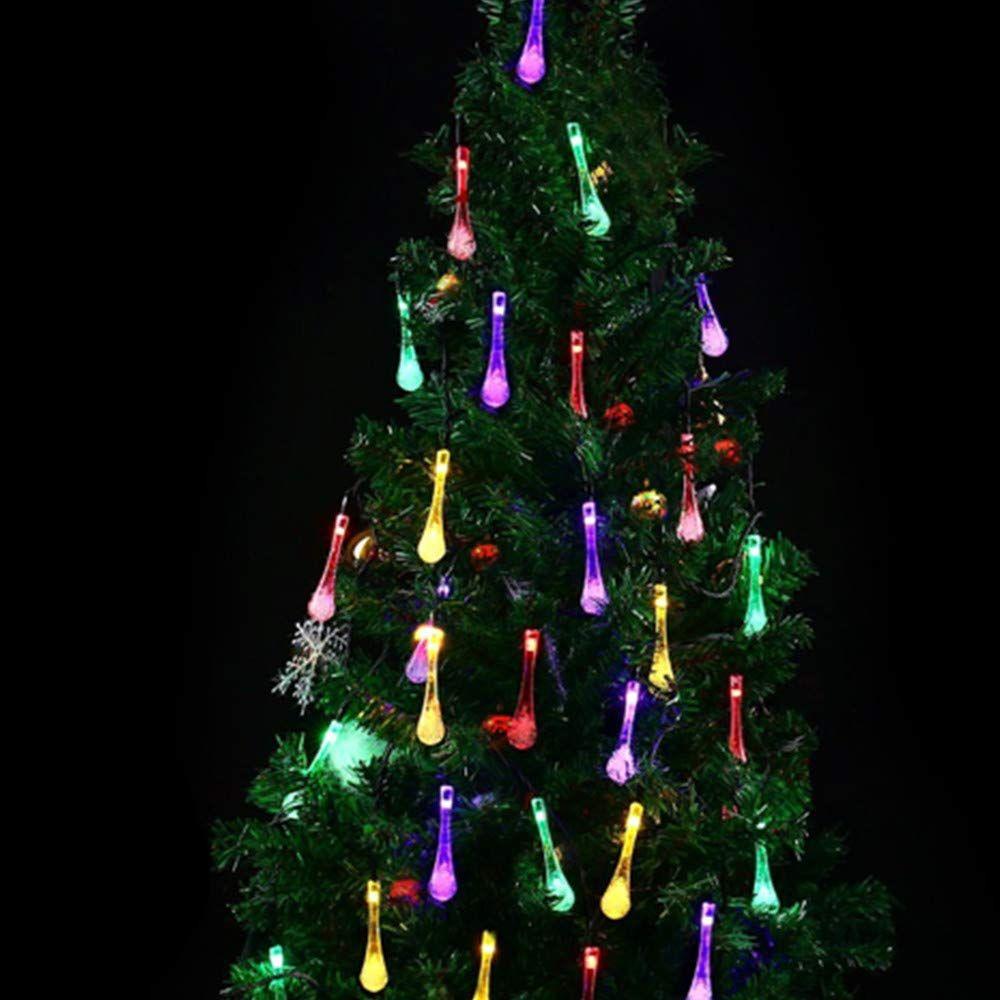 2019 NEW Solar String Lights 8 Modes 50 LED Water Drop Home Decorative Lights String Waterproof Outdoor Garden Parties Lights