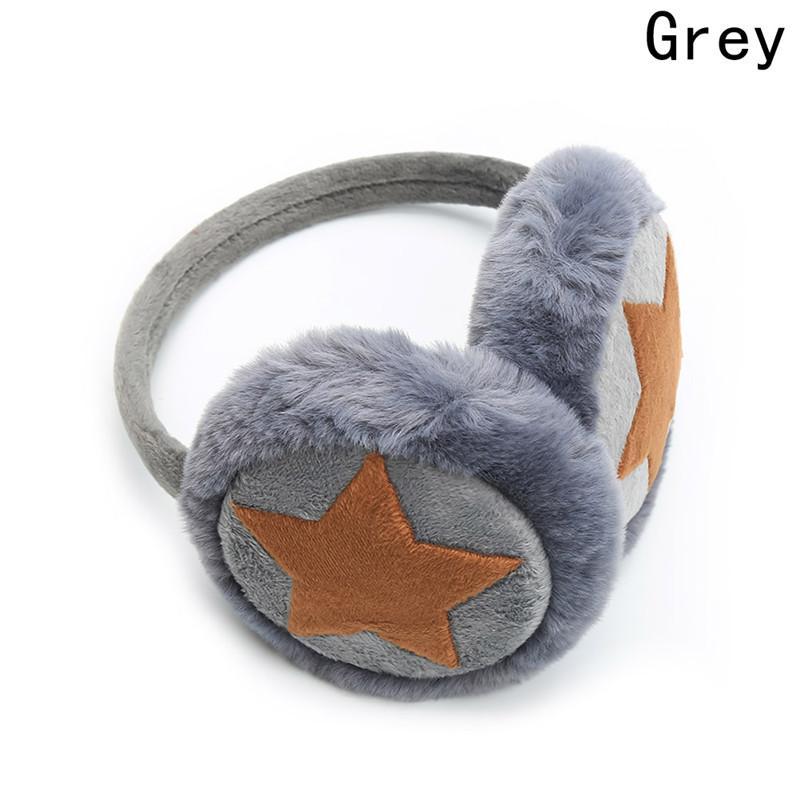 Women Girl Winter Ear Warmer Boys Cute Cartoon Plush Earmuffs Kids Cap Warm Star Shape Muffs 6 Colors