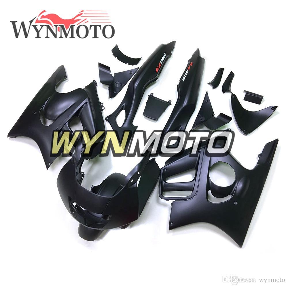 Carénages complets de moto d'injection en plastique ABS pour Honda CBR600F3 Année 1997 1998 CBR600 F3 1997 1998 Capot Noir pur Carrosserie