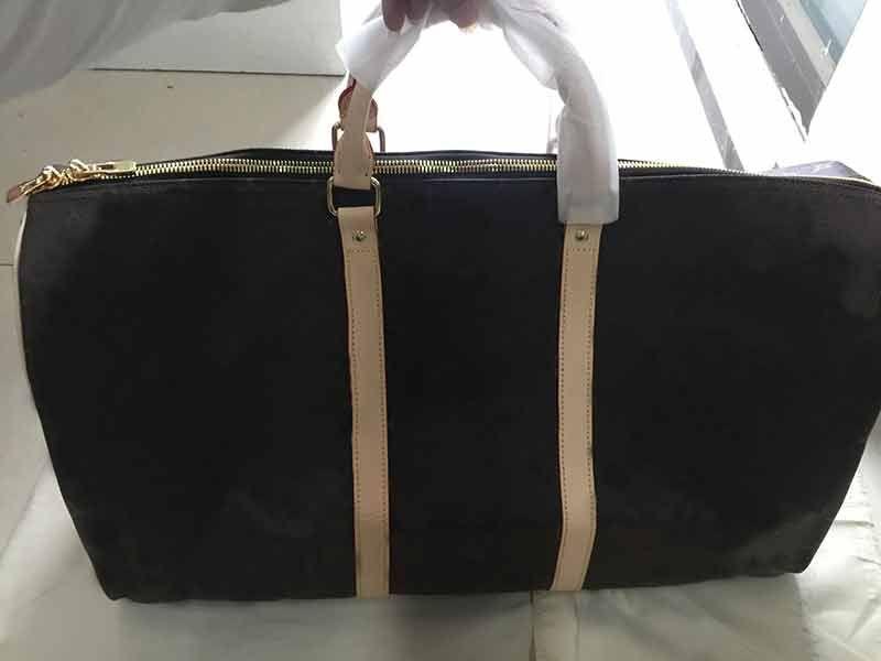 Keepall Luis Vit designer luxury handbag purse genuine leather high quality L flower pattern travel luggage duffel bags