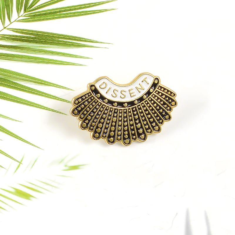 펑크 반대 정의 에나멜 핀 사용자 정의 금속 블랙 브로치 패션 루스 Bader GINSBURG 버튼 배지 여성용 보석 선물