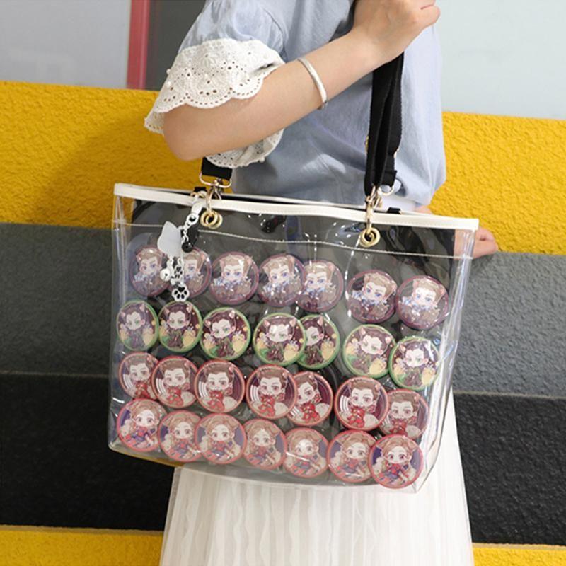 Новые девушки двухстороннее украшение Ita сумка плечо прозрачный желе сумки для женщин с регулируемым плечевым ремнем Itabag H802