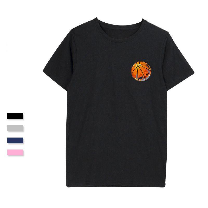 Basketball Cotton T-shirt Men Fashion Popular Print Student Sportwear Funny Tshirt For Men Women Tee Shirts Summer Chic Boy T5190605