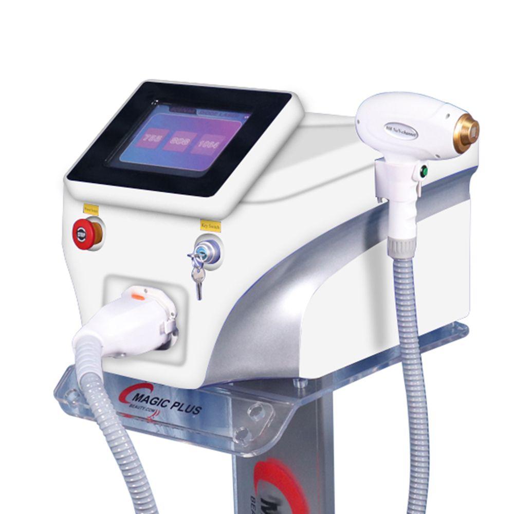 3 755 808 longueur d'onde 1064 diode dispositif d'épilation au laser 808nm Machine d'épilation au laser épilation du visage pour une utilisation de salon