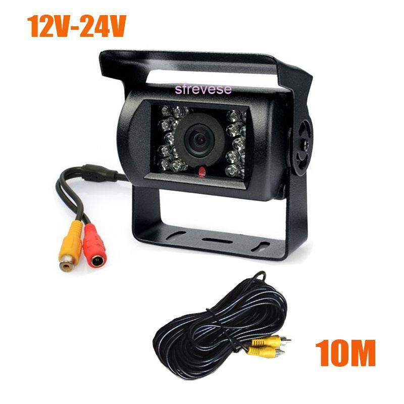 Waterdichte Auto Achteruitkijk Reverse Backup Parking Camera Night Vision + 10m Videokabel 10 stks / partij