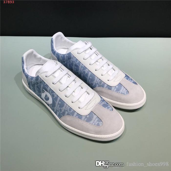 Mens casuale classico di colore di pendenza di lettere sneaker stampa giornale bassa Top Flats scarpa da tennis casuali lace-up Con scatola originale 38-47