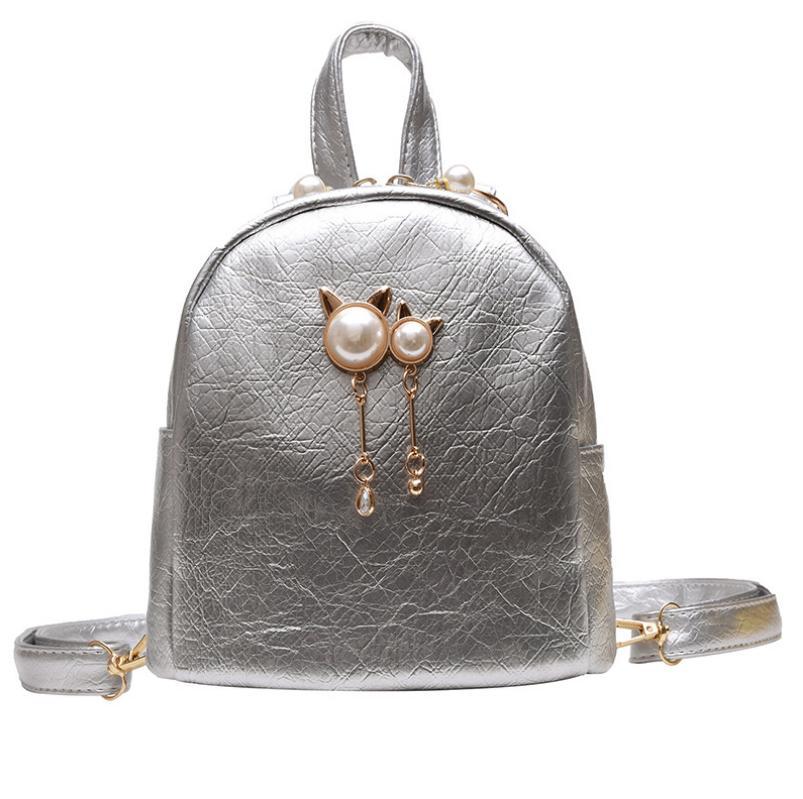 Mini Backpack Women  Leather Shoulder Bag For Teenage Girls Kids