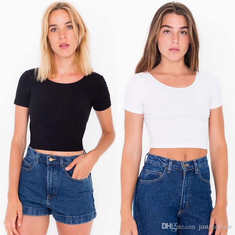 Frauen O Hals T-shirts Sexy Crop Top Kurzarm Tops Damen Grundlegende T-shirt Casual Sommer Mode Slim Fitting Korsett