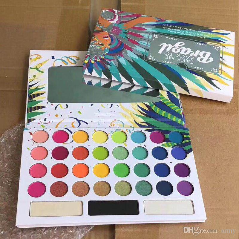 Hot Top New Arrival 35 Color TAKE ME BACK TO BRAZIL EyeShadow Palette Free DHL