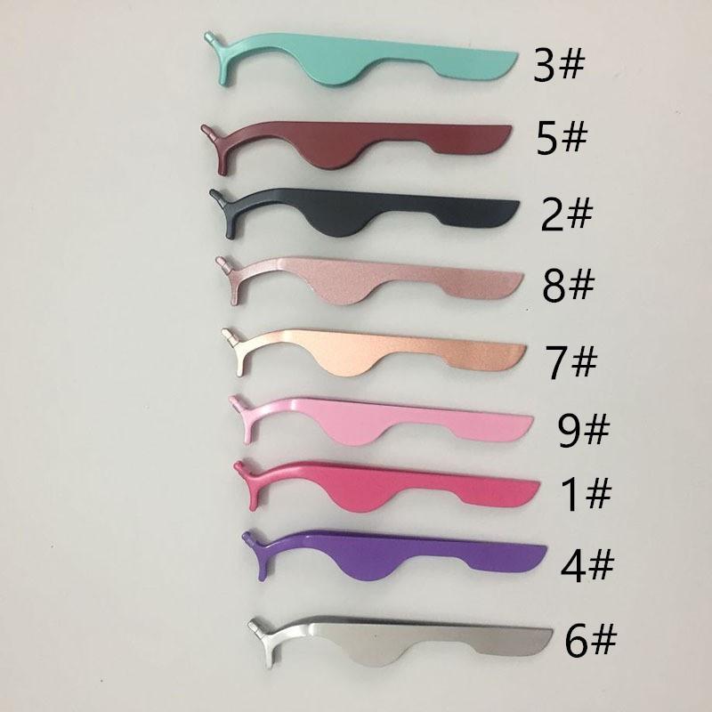 opp torba ile Kirpik klipler Cımbız yardımcı cihaz Yanlış kirpik Göz Kirpik Klip Güzellik Makyaj Aracı bigudi Çok fonksiyonlu Kirpik