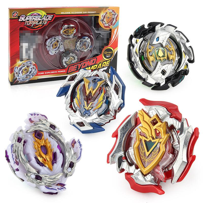 Beyblades Burst Toys for Children Super Z Versión de actualización del Gyro Set 4 en 1 Hand Battle Plate Competitivo regalo de Navidad SH190910