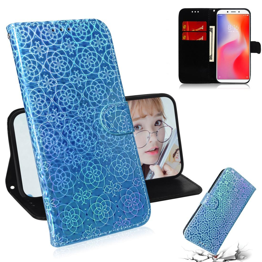 For Xiaomi Redmi 6 / 6A Solid Color Colorful Magnetic Buckle Horizontal Flip PU Leather Case with Holder & Card Slots & Wallet & Lanyard