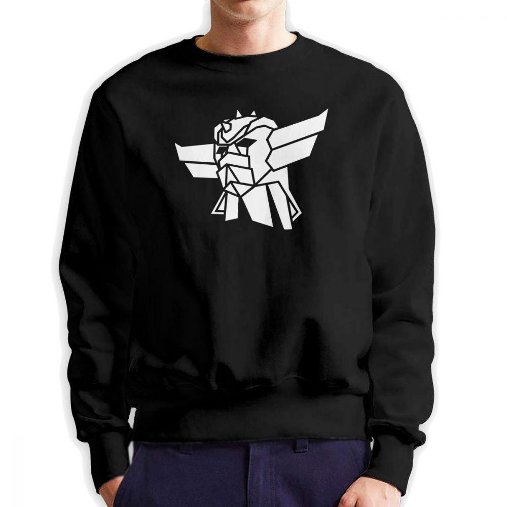 Men Goldorak UFO Robot Grendizer Hoodies Vintage Sweatshirt Pure Cotton  Pullover for Men