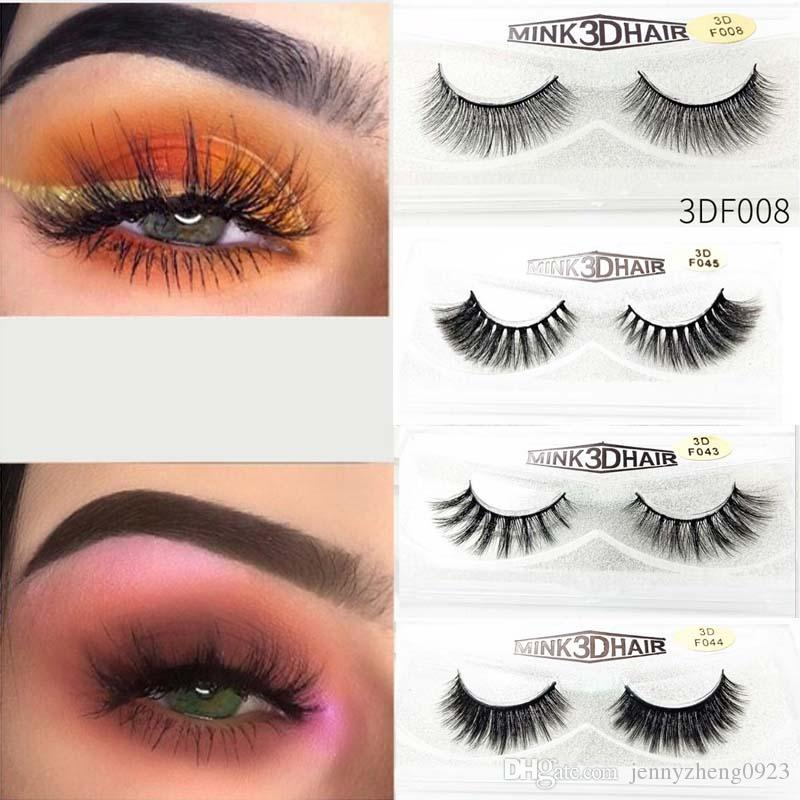 200Pairs/lot Synthetic Mink False Eyelashes Party Outdoor Performance Makeup False Lashes with Glitter Box Large Stock Fast Shipping