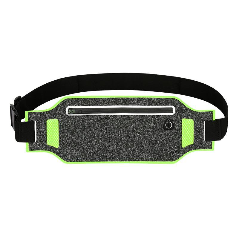 Reflexiva paquete de la cintura de la cinta andadora soporte para teléfono correa de cintura del paquete de Fanny Runner bolsa bolsa Hombres Mujeres para entrenamiento de ejercicio físico Caminar Gimnasio Un