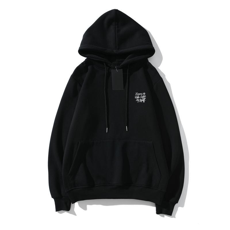 Unisex para hombre de gran tamaño con capucha diseñador de lujo camiseta de la marca de moda Jumper Streetwear Hip Hop salvaje invierno gruesa B102164Z