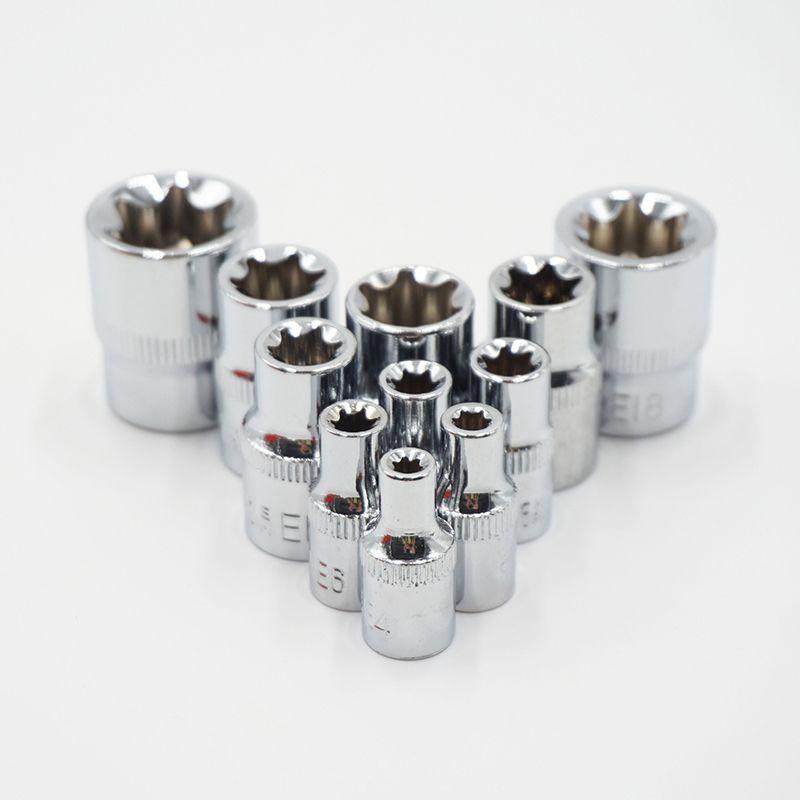 E5 E4 Juego de llaves de vaso hembra Torx de 5 piezas E8 E7 E6 SOLEIWEI