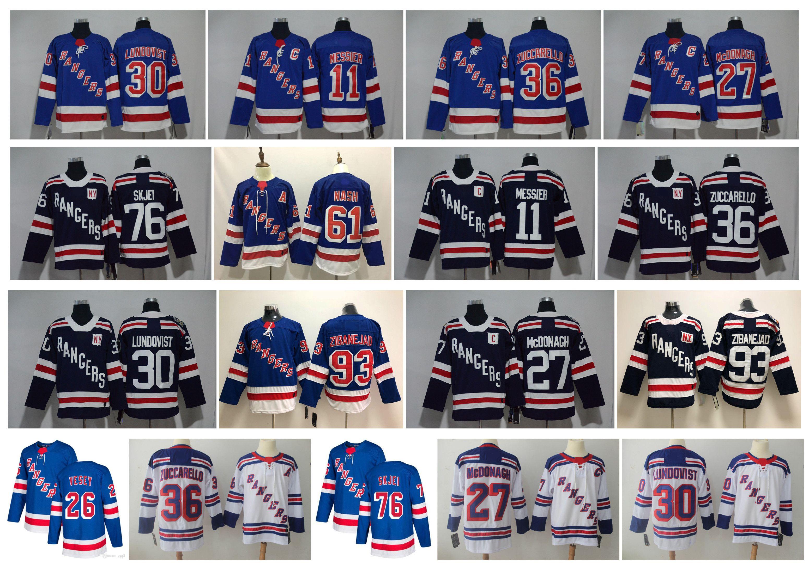 NHL NY نيويورك رينجرز جيرسي 24 Kakko هنريك لوندكفيست 10 أرتيمي بانارين 76 برادي سكجيه 93 ميكا زيبانياد ريان ماكدونا مسير الهوكي