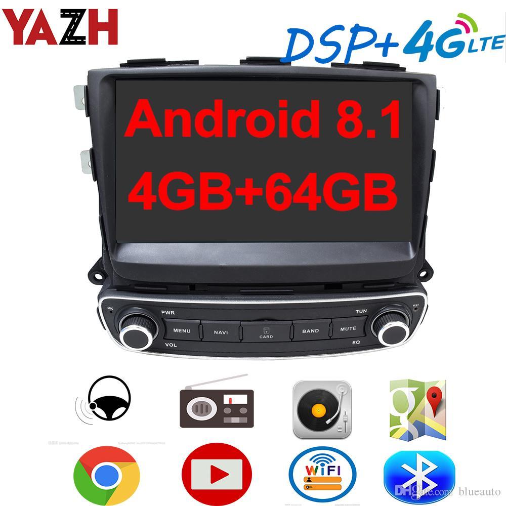YAZH السيارة الروبوت 8.1 راديو السيارات لاعب لكيا سورينتو 2013 2014 2015 مع 9.0 IPS الوسائط المتعددة GPS 4GB 64GB DSP 4G SIM بطاقة SWC سيارة دي في دي