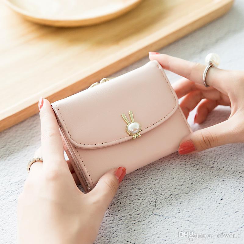 Orginal Новый дизайн Тонкий кожаный чехол держатель карты передний карман кошелек Кошелек для женщин девочек