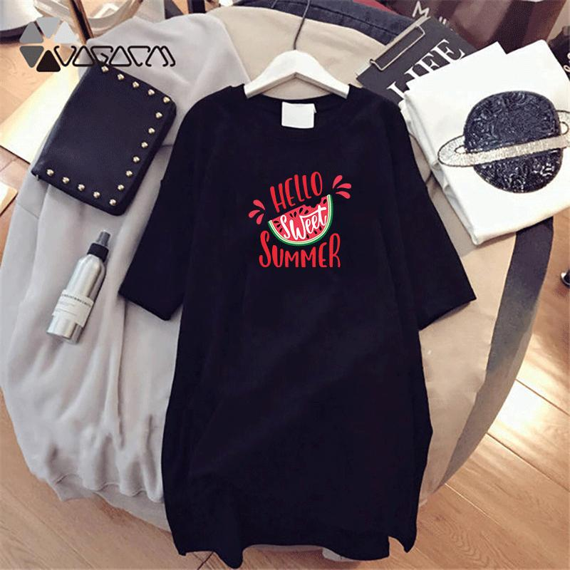 Women Designer T Shirts Long Summer Brand Printed Tees Breathable Loose Short Sleeves For Girl Dress Tops Luxury T Shirts D001A059