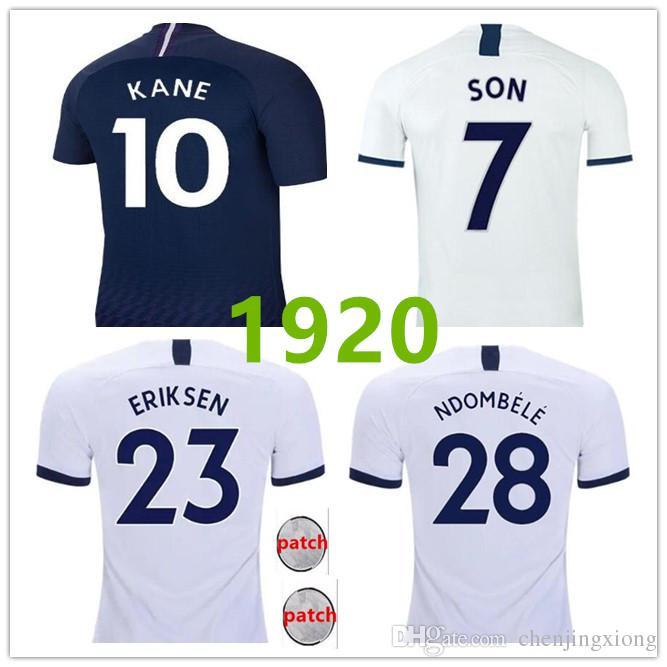 Tottenham KANE spornt Fußballtrikot 2018 2019 2020 NDOMBELE ERIKSEN DELE SON Trikot 19 20 Fußballtrikot Herren Auswärtstrikot