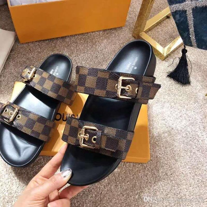 2020 nouvelles superstars flip flops mode femmes sandales imprimer de véritables plates en cuir L88 pour les femmes Classique chaussures de sport drag de sable Q11
