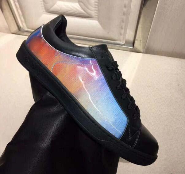 В Fastlane повседневные кроссовки обувь джинсовой ткани вензеля роскошные мужские дизайнер зашнуровать кроссовки мода дизайнер мужская тренеры свободного покроя обувь с16