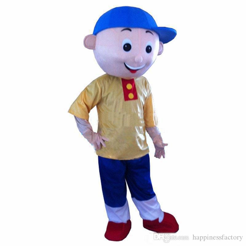 2019 Discount factory sale Cailou Mascot Costume Cartoon Fancy Dress Adult size Free Shipping