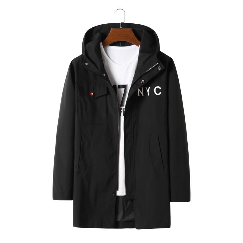 Spring And Autumn Plus Code Men Coat Three Hundred Catties Can Wear Casual Loose Have A Hat Super Large Jacket Size 4XL-8XL 10XL