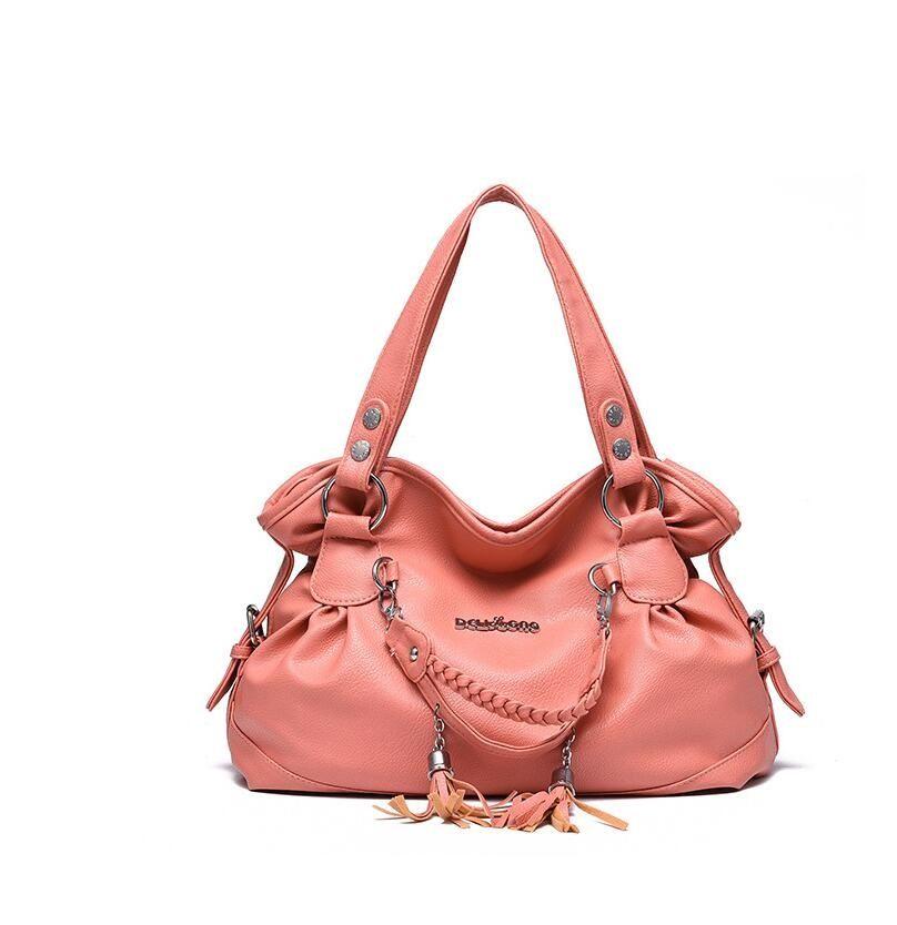 Women's bag 2020 new bag women's comfortable wear-resistant classic casual tassel soft bag women's cross-shoulder bill of lading shoulder ba
