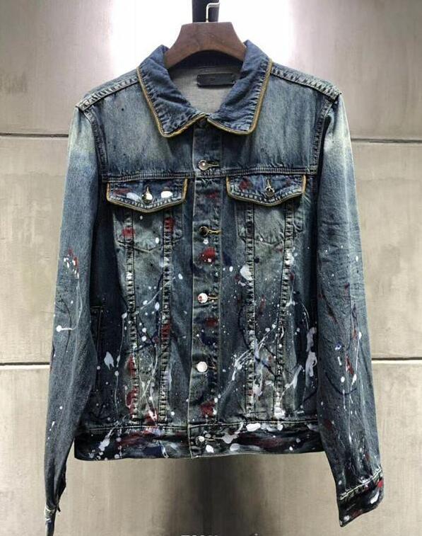 Boa qualidade motocicleta jaqueta Men Slim Coats denim homens casual camisa azul dos homens Denim Jacket Hip Hop Skinny Jeans jaqueta tamanho S-XL