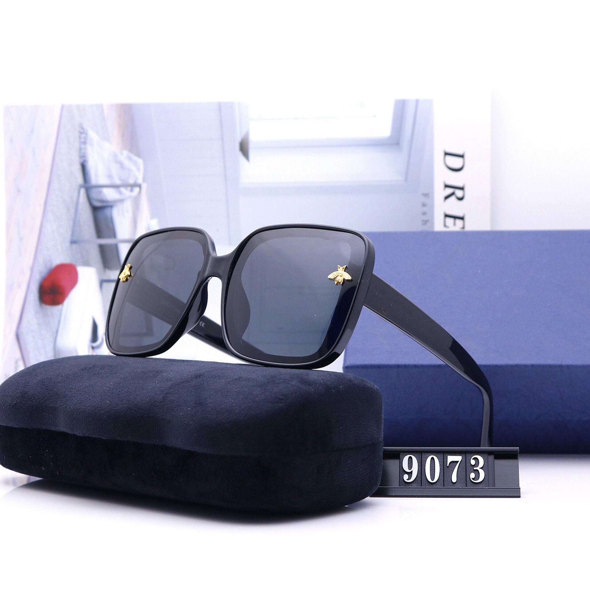 caldo di vendita degli occhiali da sole di alta qualità in stile classico pilota progettista delle donne degli uomini lenti polarizzate Occhiali da sole Eyewear di vetro del metallo occhiali da sole