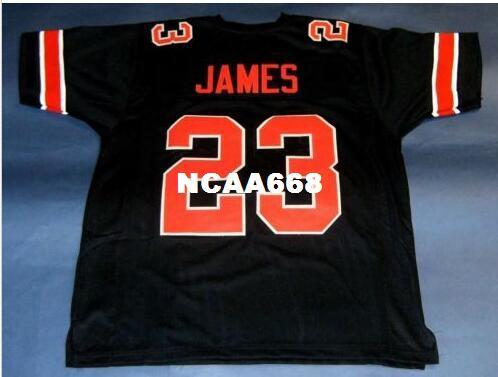 100% authentic 11ca9 a308f 2019 Men CUSTOM #23 LEBRON JAMES CUSTOM COLLEGE STYLE BLACK Red College  Jersey Size S 4XL Or Custom Any Name Or Number Jersey From Ncaa668, $16.45  | ...