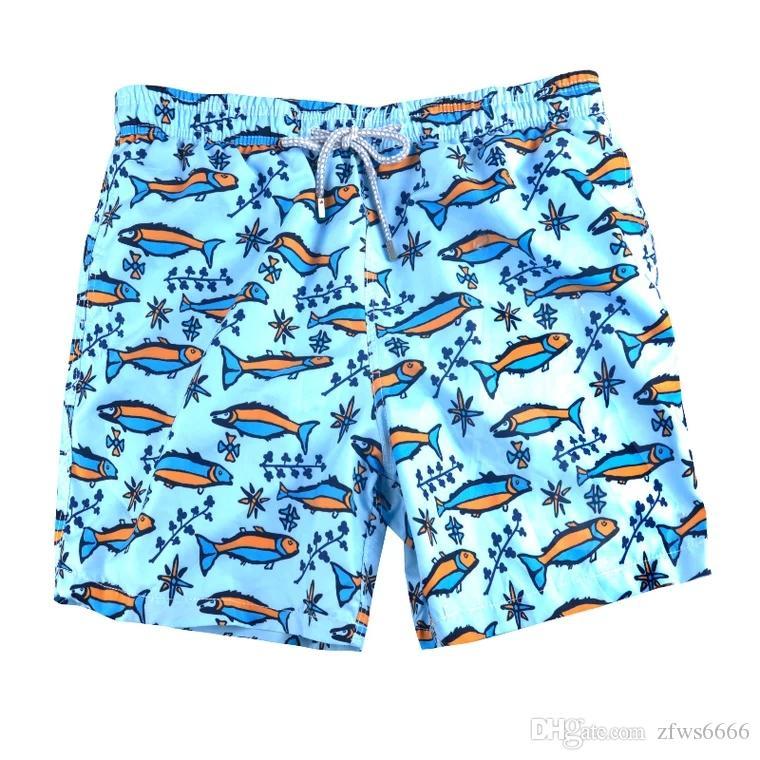 2019 nuovo Vilebrequin mens Beach Shorts 81 Vilebre marchio Costumi da bagno polpo stella marina Stampa tartaruga maschio Pantaloncini da bagno asciugatura rapida