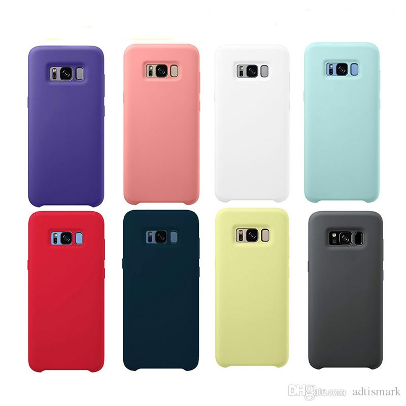 Original Liquid Silicone Case Silky Soft-Touch Shell Cover For Samsung Galaxy S20 S10 Lite/S10E S8 S9 NOTE 8 9 10 With Box