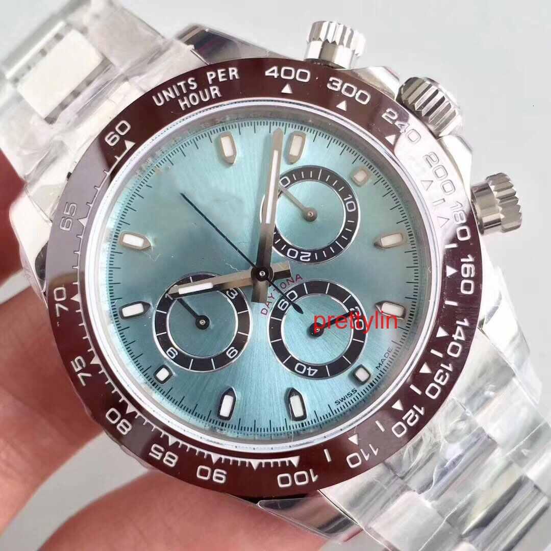 Buz Mavi Lüks İzle 2813 Otomatik Mekanik Hareketi Erkek Paslanmaz Çelik Moda Tasarımcısı Saatler Kol Saatı Saatler