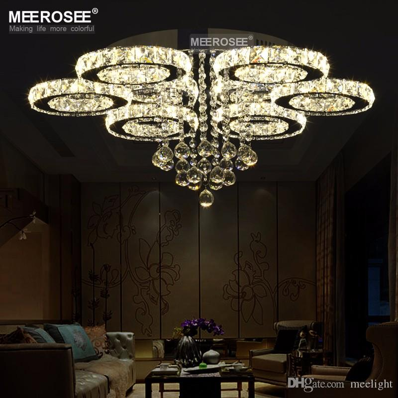 Crystal LED Ceiling Light Diamond Modern LED Crystal lamp for Dining Living room Ring Circle Lustres Lamparas de techo Home Decoration Light
