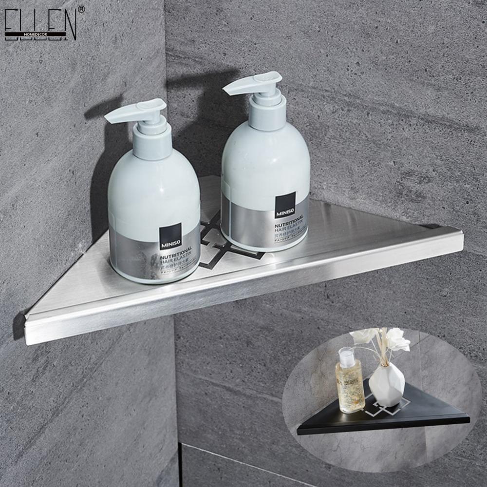 욕실 코너 선반 닦았 니켈 304 개 스테인레스 스틸 벽 욕실 선반 샤워 저장 욕실 액세서리 선반 ELF41 Y200407