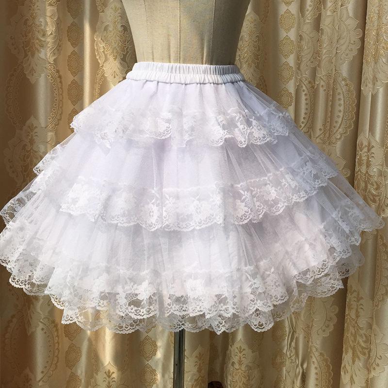 Lolita Skirt Women Petticoats Hard Yarn Pannier 100% cotton lining Basic Puff Skirt COS Violence Tulle Half Skirts for Coser