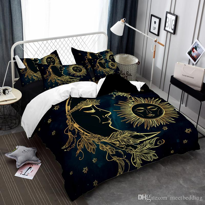 Popular Gold-plated Bedding Set with Twin Full Queen Size Duvet Cover Set 2/3pcs with Pillowcase Chinese style Bed set