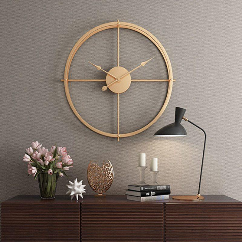 Kurze 3d European Style Silent-Uhr Wanduhr Modernes Design für Home Office Dekorative Hängeuhr Wandwohnkultur